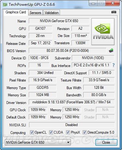 默压狂飙1.25G 铭鑫GTX 650 G频版评测