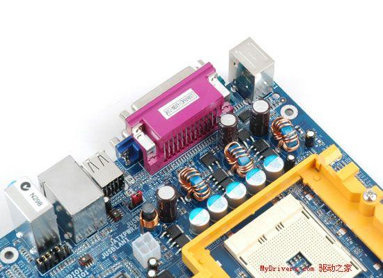 映泰c51主板采用三相电源回路设计,支持socket754接口的amd athlon64
